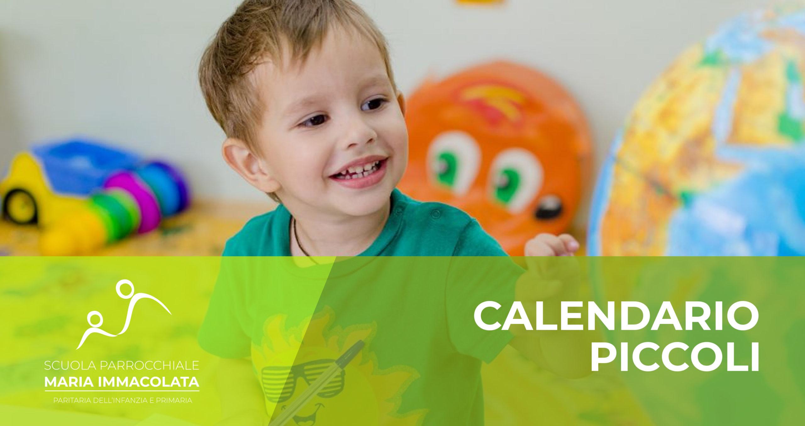 Calendario attività piccoli (primo anno)