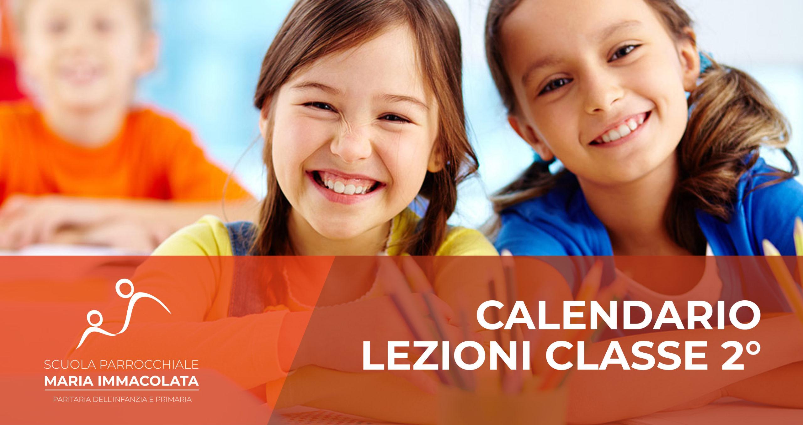 Calendario lezioni 2019-2020 Classe 2