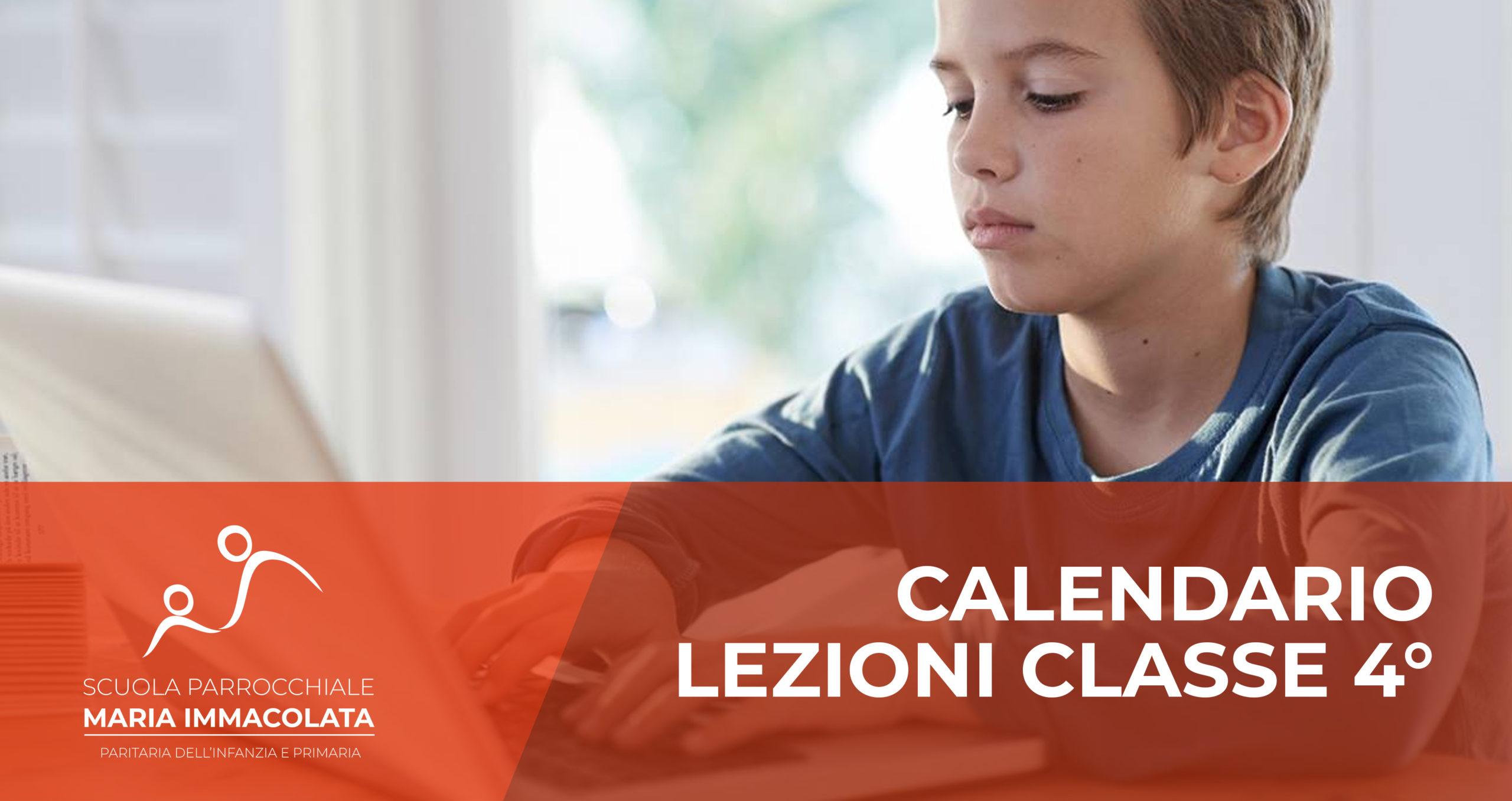 Calendario lezioni 2019-2020 Classe 4