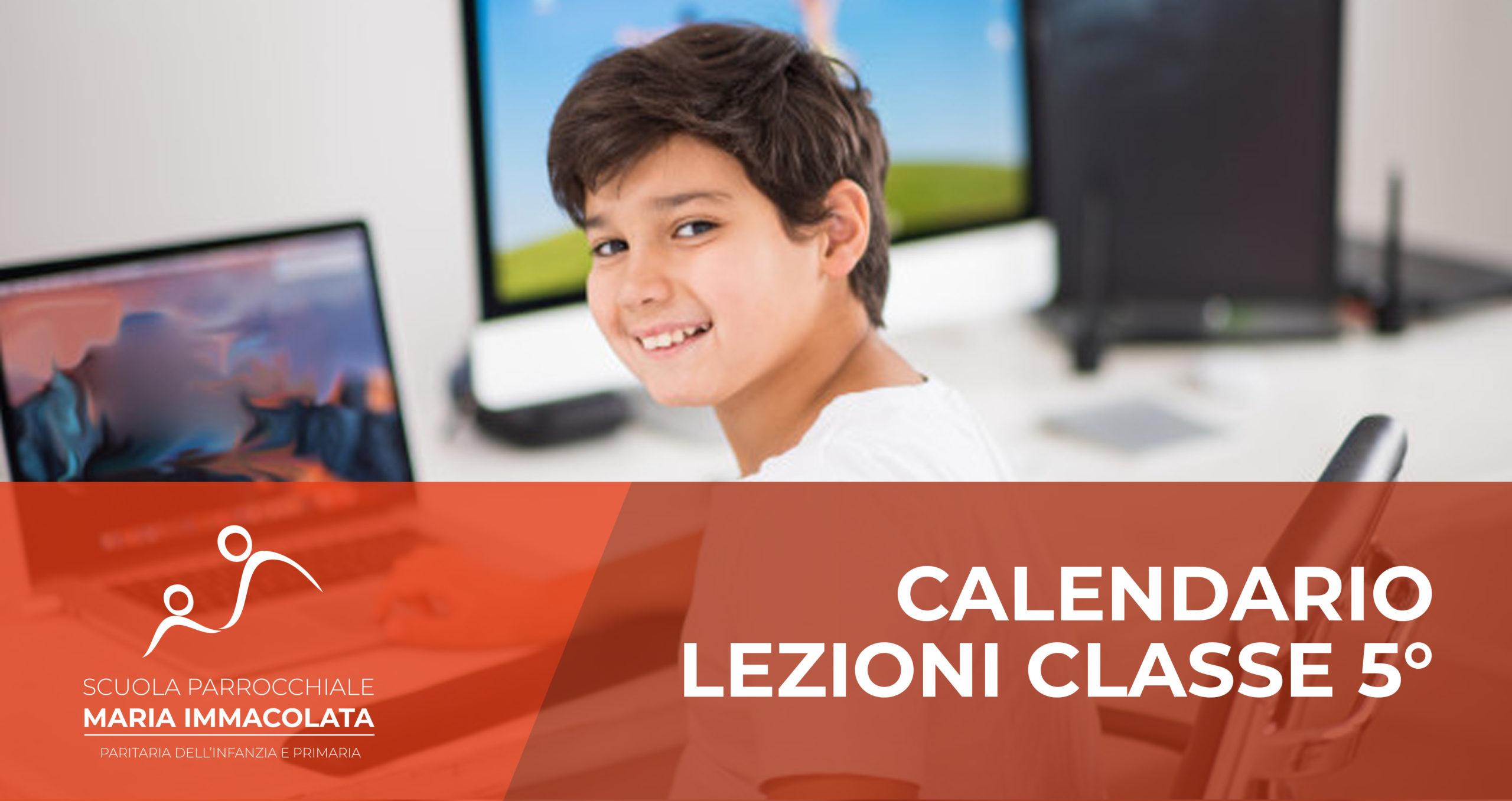 Calendario lezioni 2019-2020 Classe 5