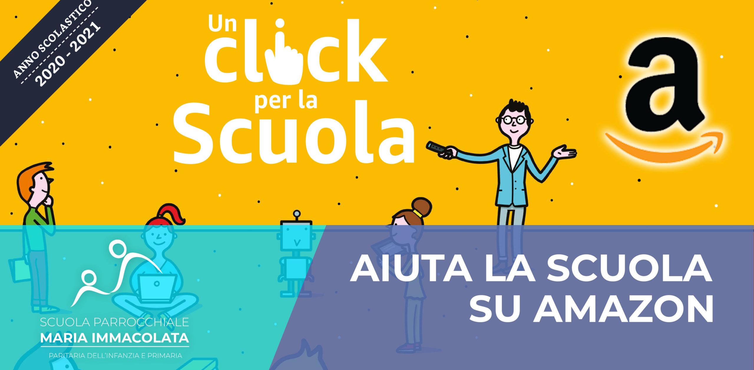 """Torna """"Un click per la Scuola"""": doni un credito ad ogni acquisto su Amazon.it"""