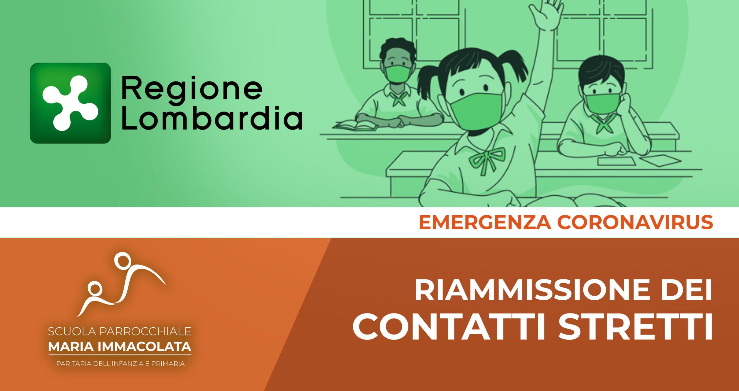 Chiarimenti di Regione Lombardia sulla riammissione dei contatti stretti