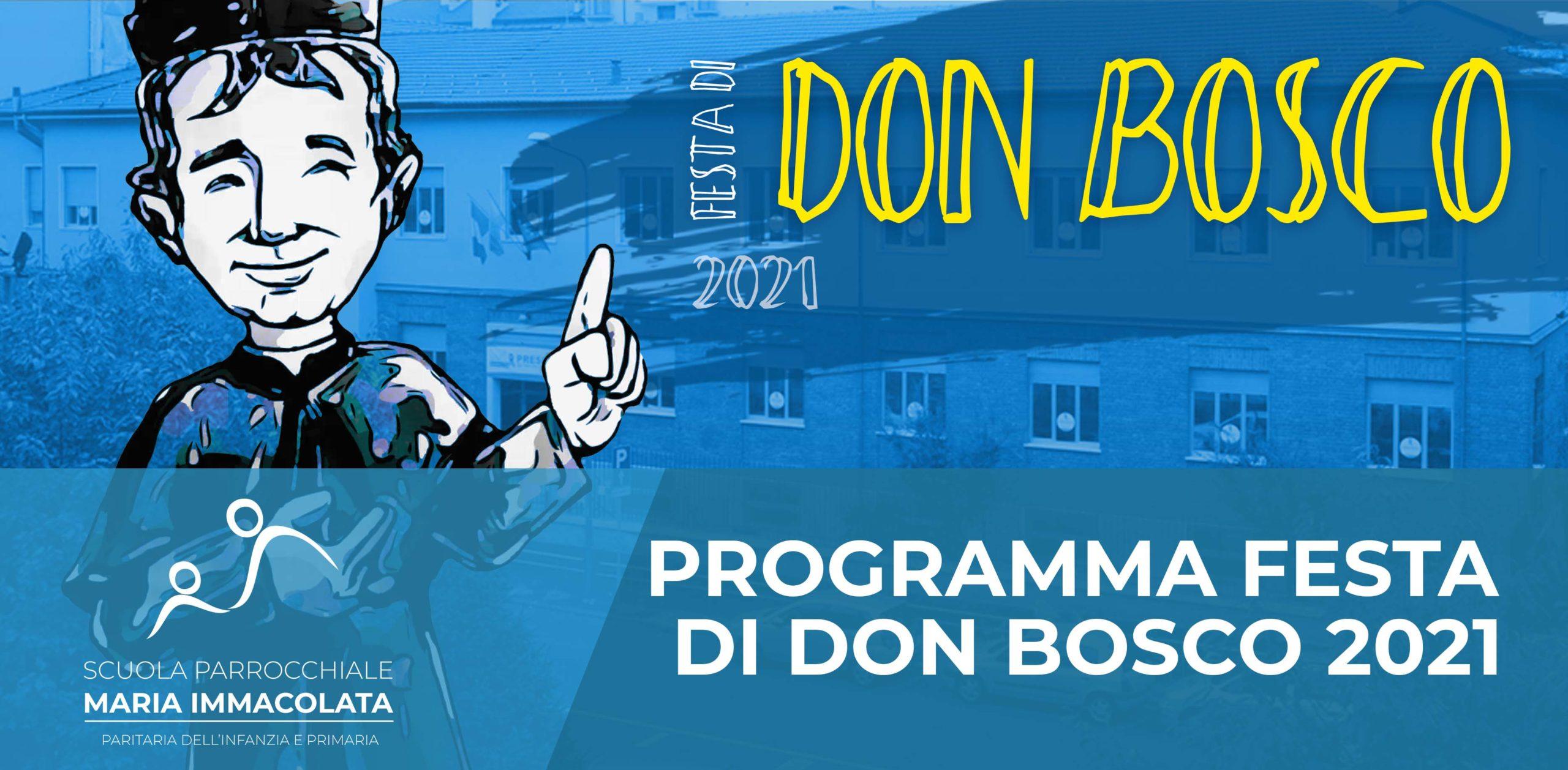 Venerdì 29 e domenica 31 gennaio 2021: Festa di don Bosco