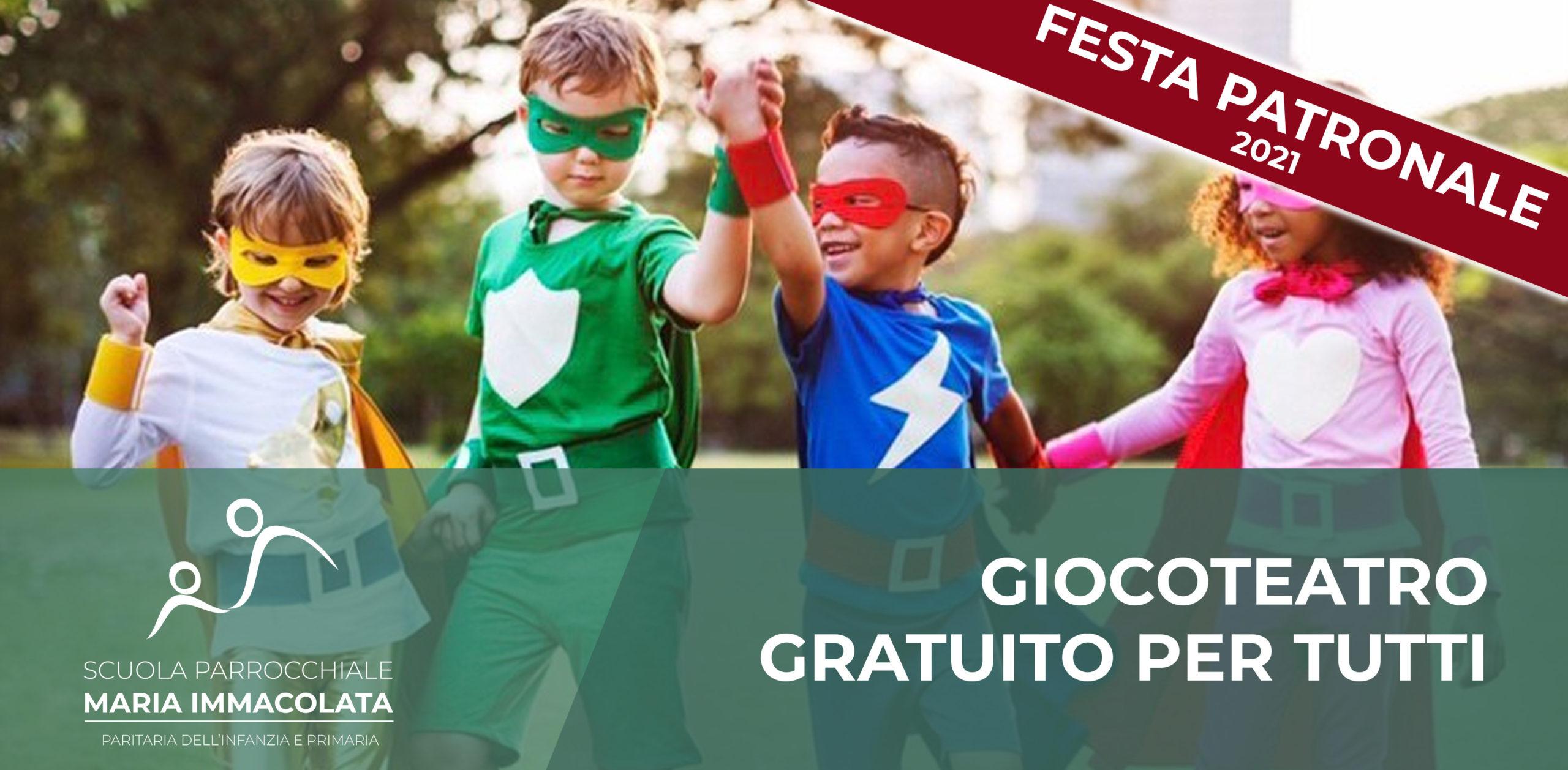Domenica 6 giugno 2021: Giocoteatro per tutti i bambini