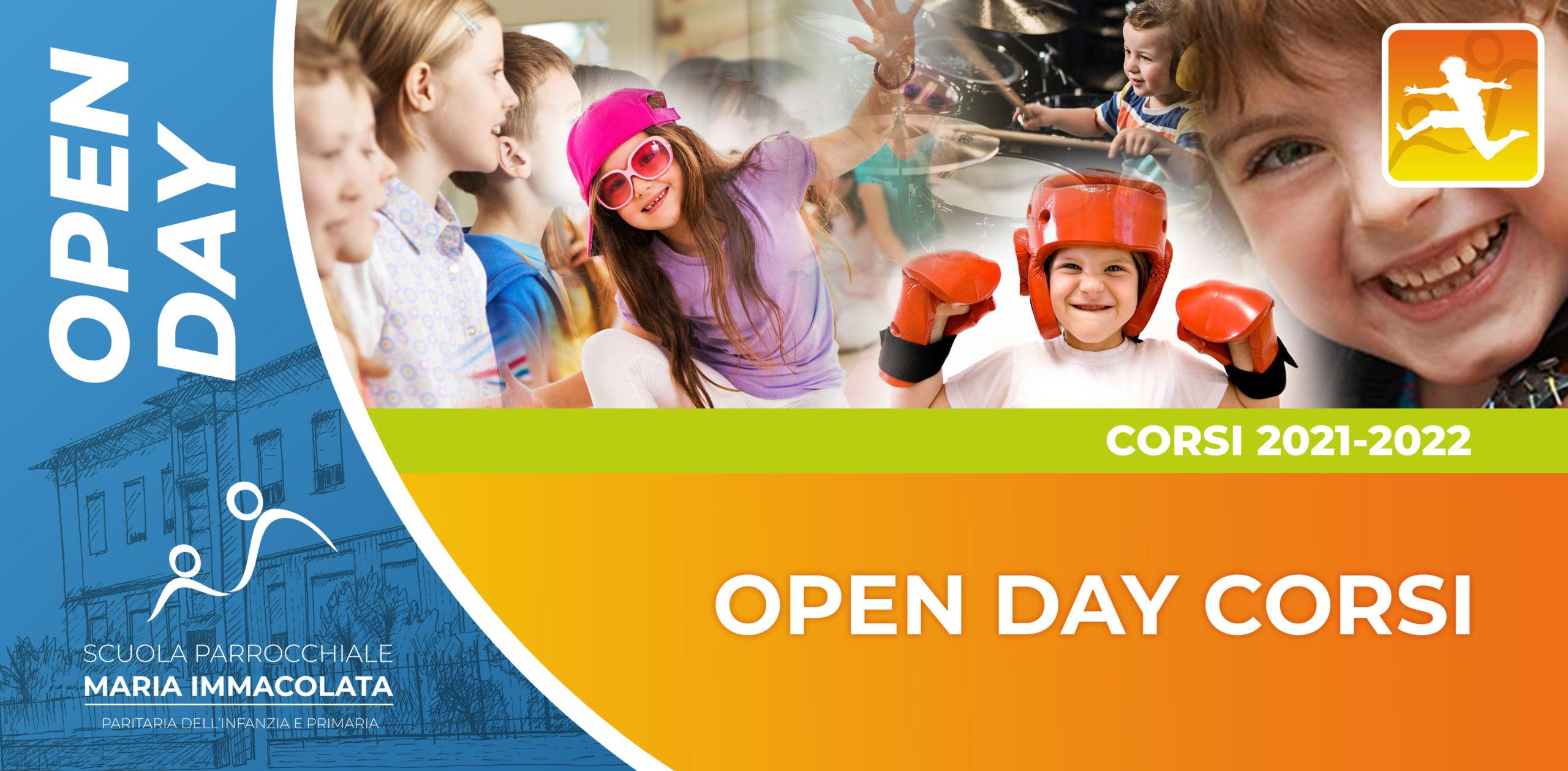 Sabato 25 settembre 2021: Open Day Corsi extrascolastici